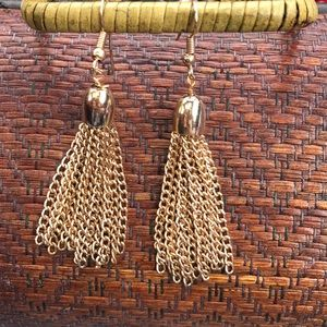 Golden Tassel Chain Earrings!